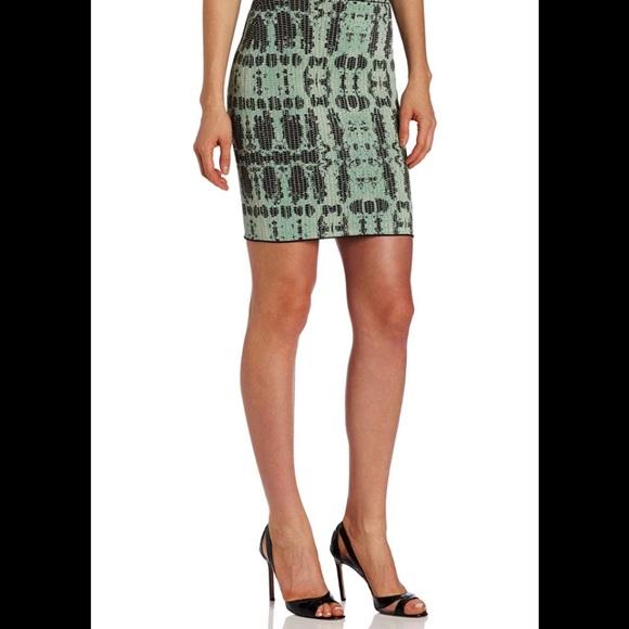 BCBGMaxAzria Dresses & Skirts - BCBG Scarlett Ink-Block Skirt Bodycon small